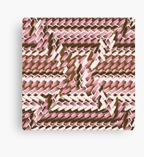 Coralcaramel S-type Blade Distort Seamless Pattern Canvas Print
