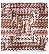 Coralcaramel S-type Blade Distort Seamless Pattern Poster