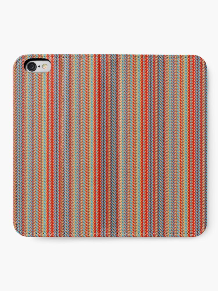 Alternate view of Sunblaze S-type Blade Stripe Seamless Pattern iPhone Wallet