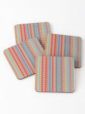 Sunblaze S-type Blade Stripe Seamless Pattern Coasters