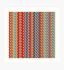 Sunblaze S-type Blade Stripe Seamless Pattern Art Print
