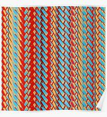 Sunblaze S-type Blade Stripe Seamless Pattern Poster