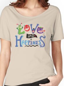 Love & Happiness  - beige Women's Relaxed Fit T-Shirt