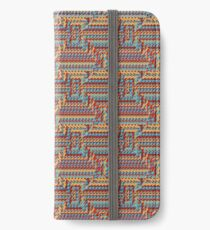 Sunblaze S-type Blade Distort Seamless Pattern iPhone Wallet/Case/Skin