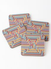 Sunblaze S-type Blade Distort Seamless Pattern Coasters
