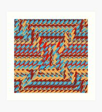 Sunblaze S-type Blade Distort Seamless Pattern Art Print