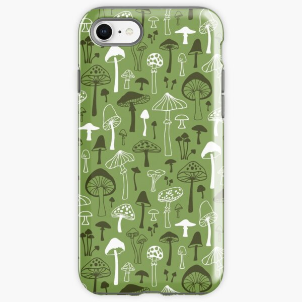 Mushrooms in Green iPhone Tough Case