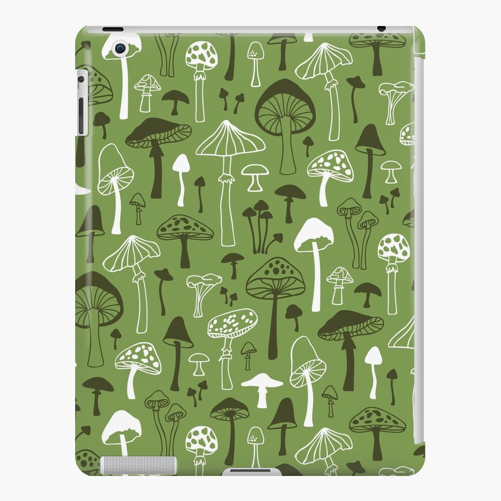 Mushrooms in Green iPad Case & Skin