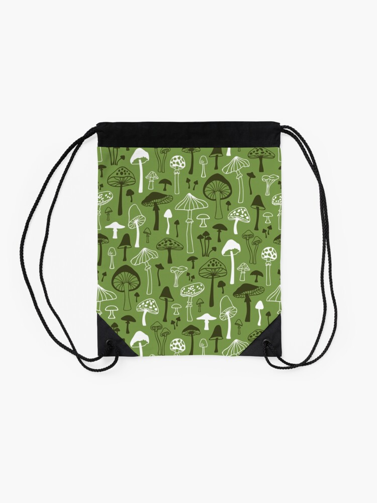 Alternate view of Mushrooms in Green Drawstring Bag