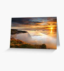 Castle Point Sunrise Greeting Card