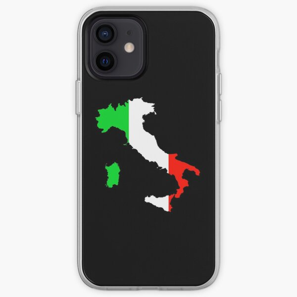 Flag of Italy and Map of Italy iPhone Soft Case