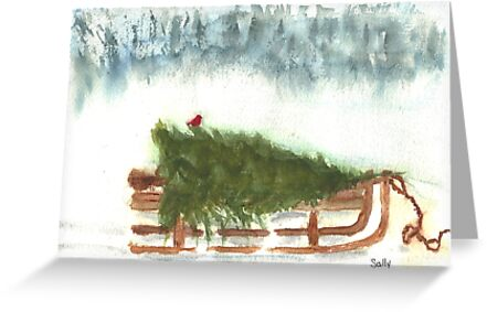Bringing Home theTree  by Sally Griffin