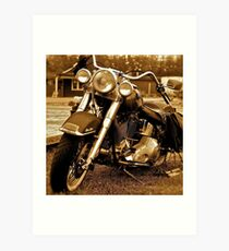 Harley  Davidson  . Views (217) , Favs (4). Thank you Easy Riders !!!! Art Print
