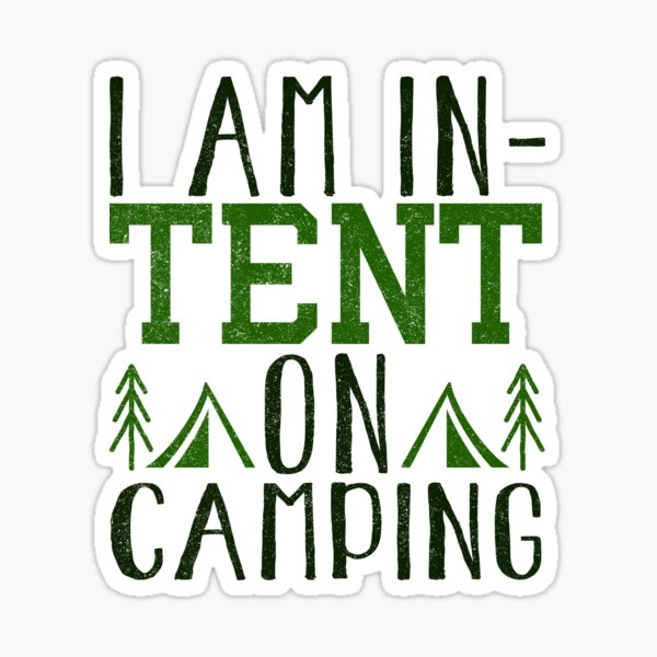 In-Tent On Camping Sticker