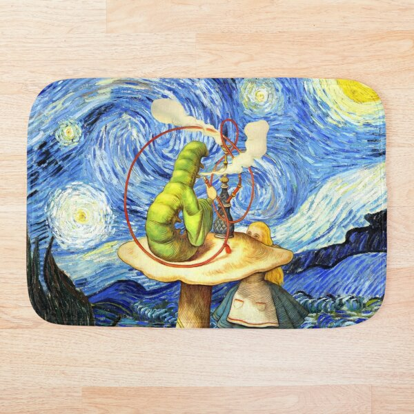 Alice & The Caterpillar Starry Night - Alice In Wonderland Bath Mat