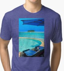 The Maldives - romantic atoll island paradise with luxury resort  Tri-blend T-Shirt