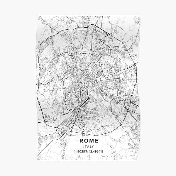 Italy Map Art Travel Map Print World Map Europe Map Custom Map Office Decor Rome Europe Street Map Art Gift City Map