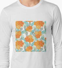 Brush Flower Long Sleeve T-Shirt