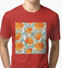 Brush Flower Tri-blend T-Shirt