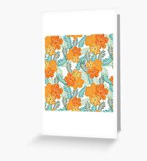 Brush Flower Greeting Card