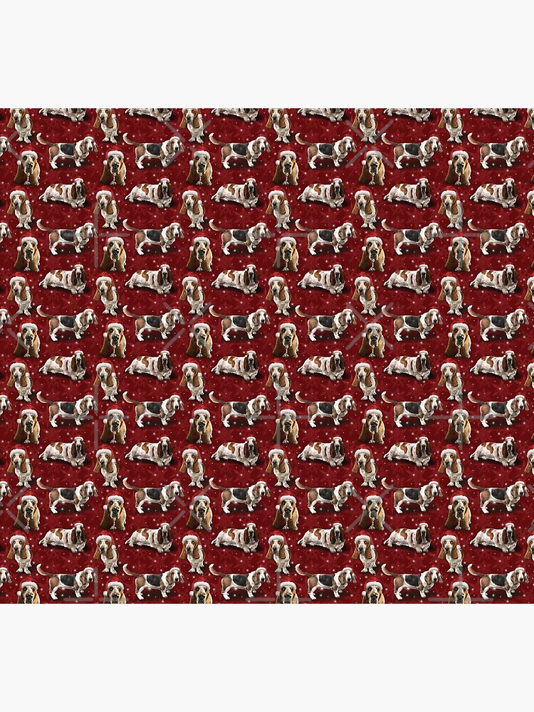 The Christmas Basset Hound by elspethrose