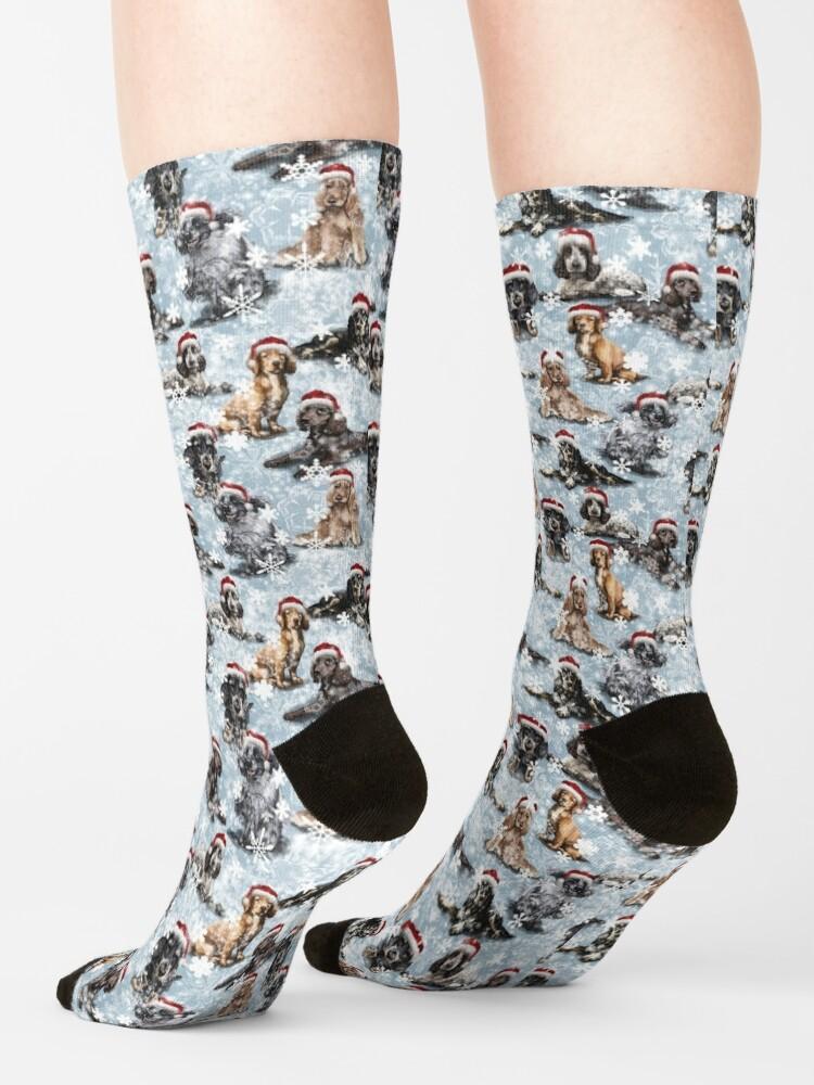 Alternate view of The Christmas Cocker Spaniel Socks