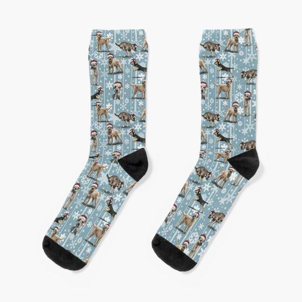 The Christmas Border Terrier Socks
