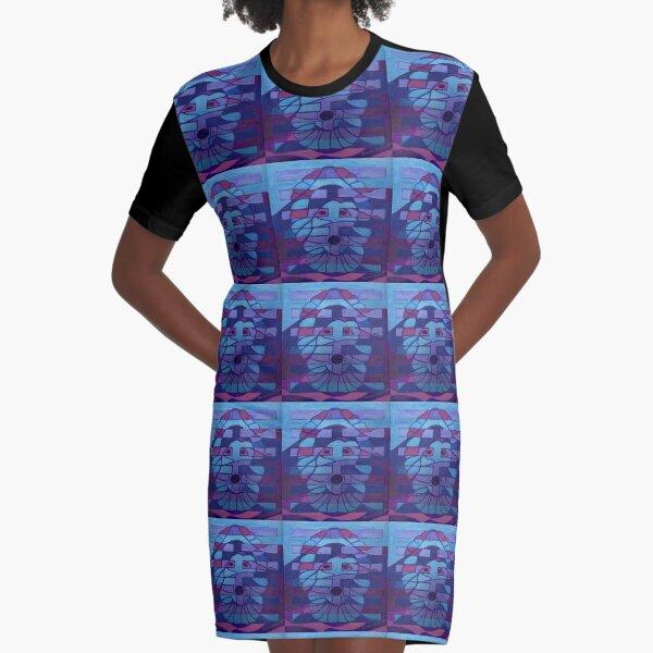 Hexagram 27: Yi (Nourishment) Graphic T-Shirt Dress