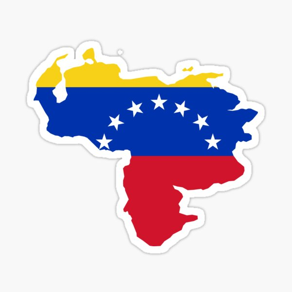 Venezuela map flag Sticker