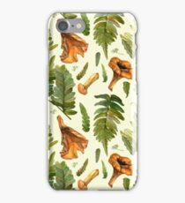 Ferns and mushrooms iPhone Case/Skin
