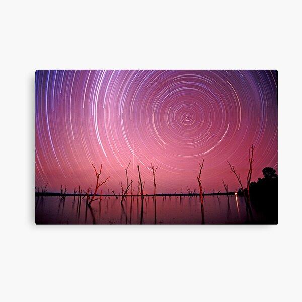 Star and meteorite trails, Lake Nuga Nuga, Arcadia Valley Canvas Print