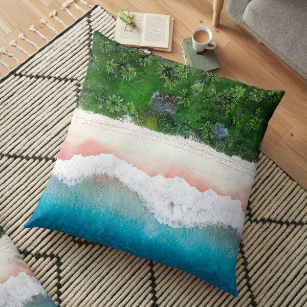 Aerial Tropical Beach Floor Pillow