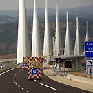 Don't miss the turn! - Millau, the viaduct  by bubblehex08