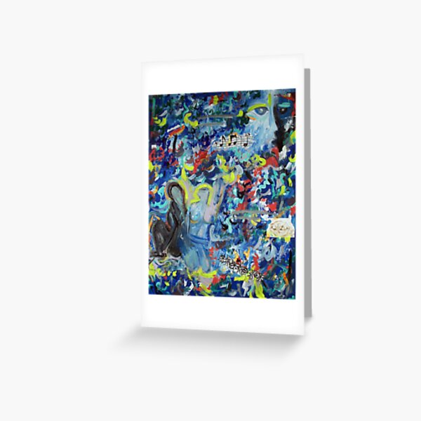 Blue Days In L.A Greeting Card
