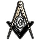 Freemason Compass Metal White Sharp by IBMClothing