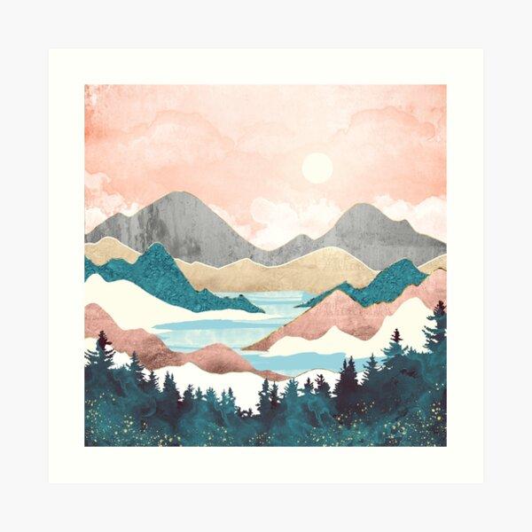 Lake Sunrise Art Print