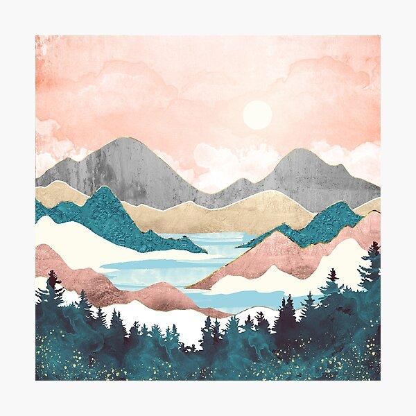 Lake Sunrise Photographic Print