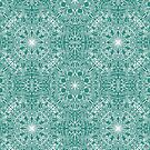 Terrific insects crowded together in a single seamles pattern design by Zoo-co