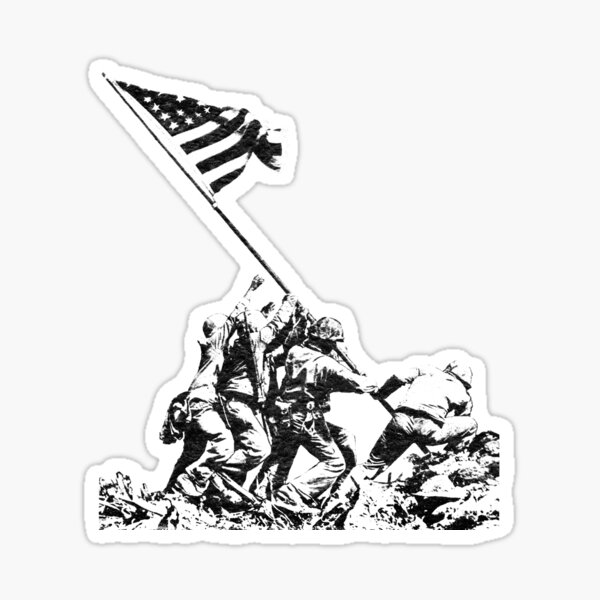 WWII Flag Raising on Iwo Jima Sticker