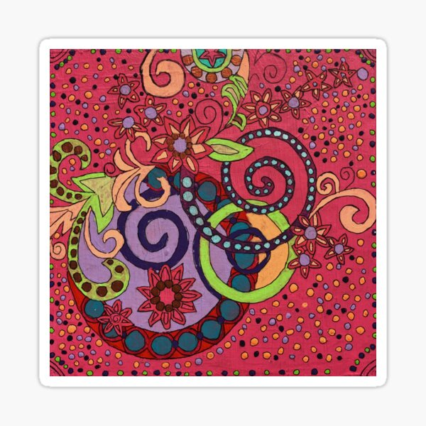 Girly Swirls by Candace N. Sticker