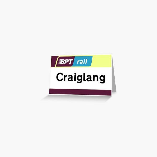 Craiglang Station Sign Greeting Card