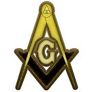 Freemason Compass Gold Rust by IBMClothing