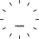 Truro Time Zone Newsroom Wanduhr von bluehugo