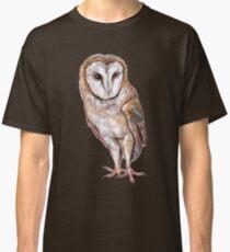 Barn owl drawing Classic T-Shirt
