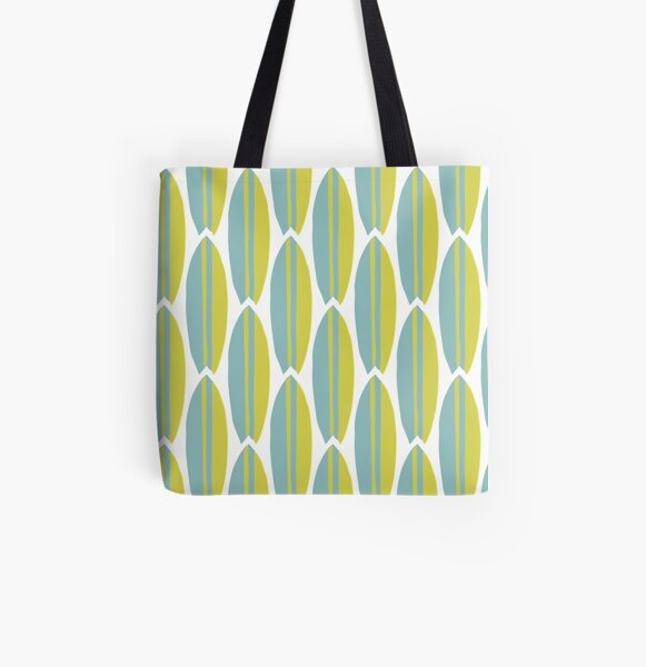 Surfboard Allover-Print Tote Bag