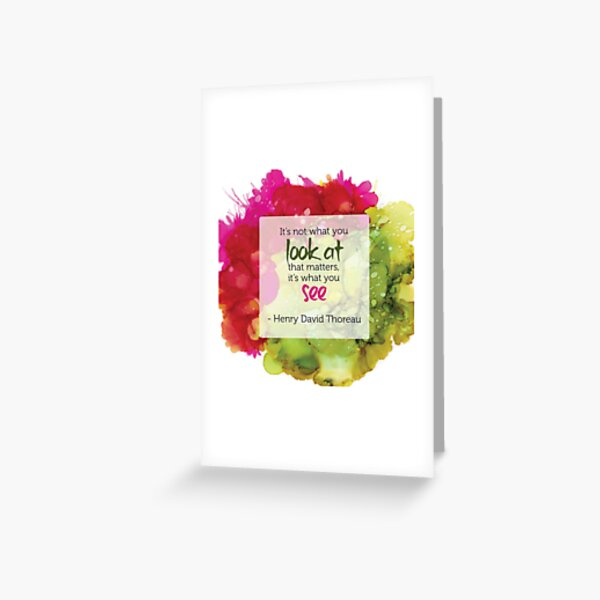 Inspirational Quote - Alcohol Ink Greeting Card