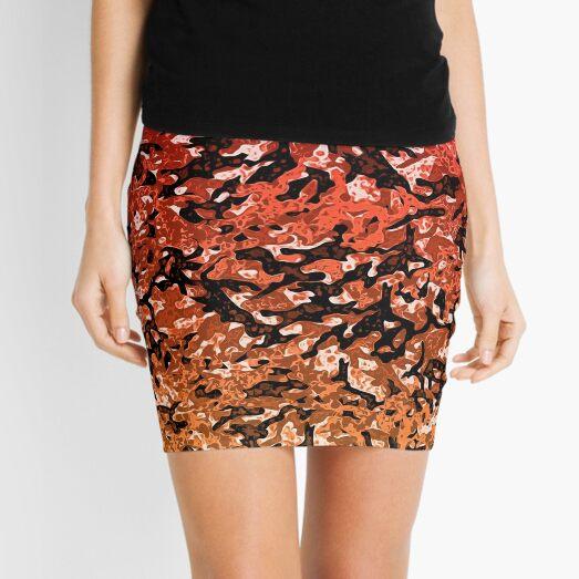 Magma camouflage. Mini Skirt