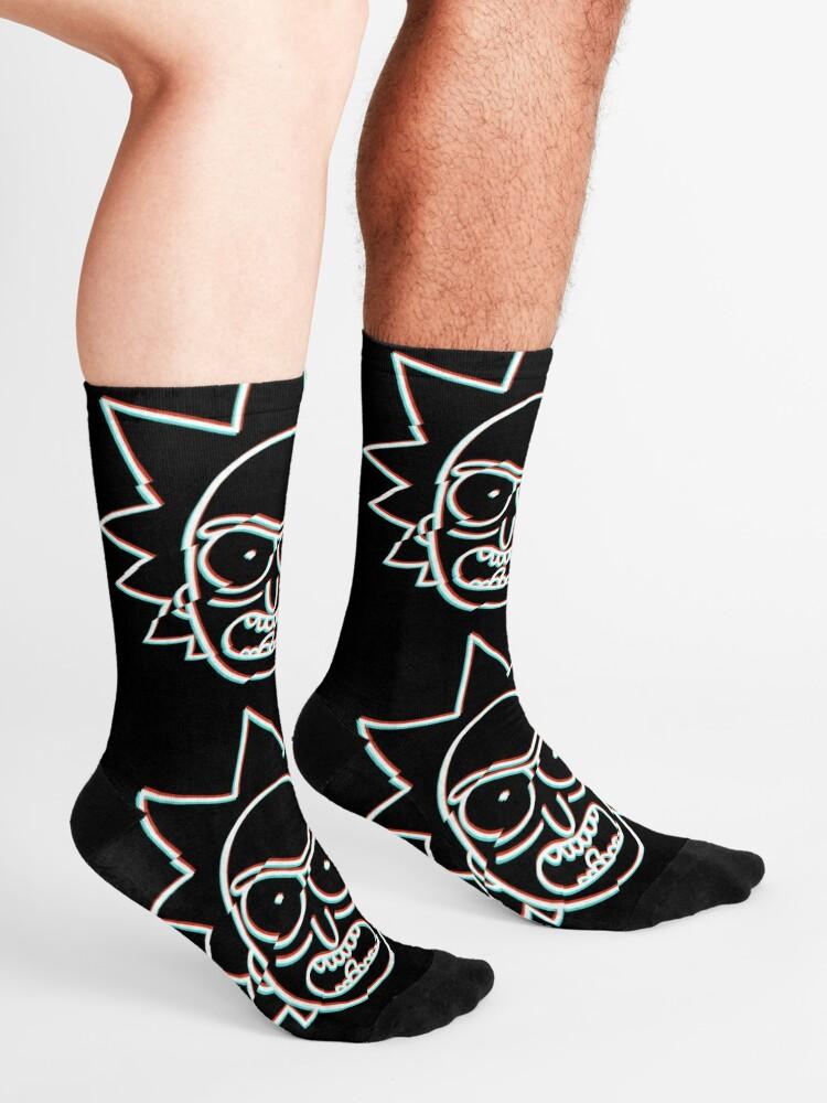 Alternate view of Glitchy Rick Socks