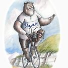 Ursus the cyclist bear by coloriscausa