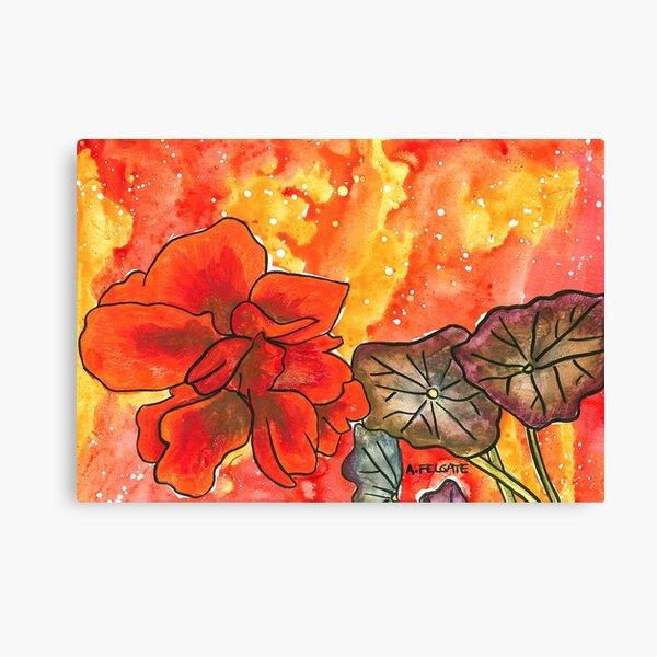 Red Nasturtium Canvas Print